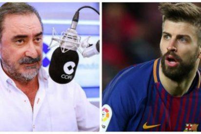 """El """"cretino"""" de Piqué se indigna con Carlos Herrera porque este le llamó """"Gerardo"""""""