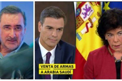 """Herrera hace picadillo a Sánchez y Celaá por ponerse de perfil ante las """"gilipolleces"""" de Quim Torra"""