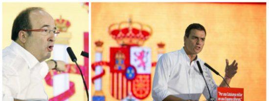 Iceta le hunde la teatralidad españolista a Sánchez con un indisimulado guiño a los golpistas encarcelados