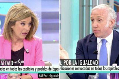 La 'feminista' Esther Palomera lincha a la exsocialista Soraya Rodríguez y es Eduardo Inda quien la tiene que defender