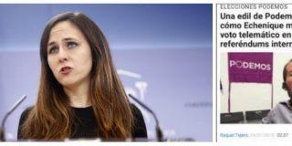 ¡Vuelve a por otra, Ione Belarra! Acusa a Ciudadanos de pucherazo y le sacan todos los fraudes de Podemos