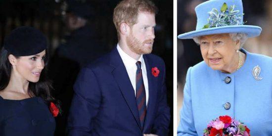 Isabel II prohíbe a Harry y Meghan crear una corte independiente de Buckingham Palace