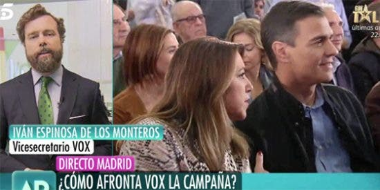 """Espinosa de los Monteros se lo pasa en grande a costa de 'La Sultana': """"Le tenemos mucho cariño en VOX; ¡Susana, contigo empezó todo!"""""""