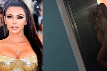 Kim Kardashian y ese selfie secreto que arrasa en redes: embarazada y como Dios la trajo al mundo