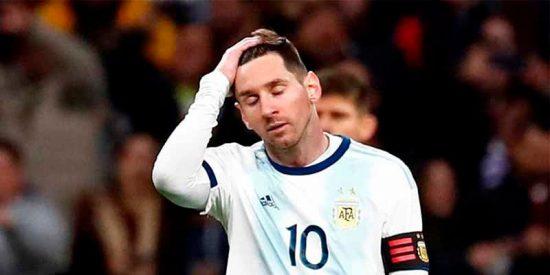 La vanidosa Argentina cae ante la modesta Venezuela y Messi, de nuevo lesionado