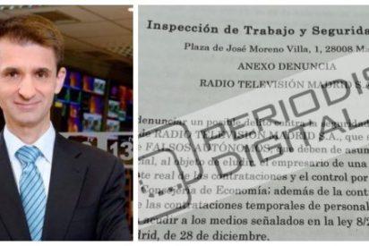 Exclusiva PD: Una denuncia por la contratación masiva de falsos autónomos pone en la cuerda floja al director de Telemadrid