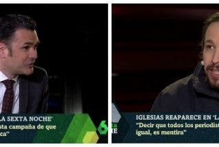 Pablo Iglesias insulta a Inda y a Atresmedia ante un temeroso Iñaki López incapaz de saltarle a la yugular