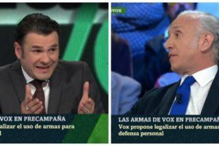 Inda provoca el acojone del presentador de 'laSexta Noche' en su respuesta a los insultos de Iglesias