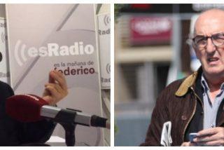 """Jiménez Losantos despelleja a Roures tras derrotarlo en los tribunales: """"Me da a mí que tiene un bache en el ADN"""""""