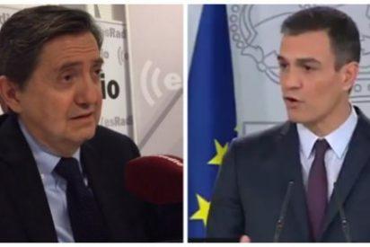 Losantos atemoriza a los votantes destapando los planes ocultos del 'okupa' Sánchez