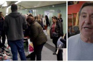 """Los comerciantes del Metro de Madrid se hartan de los manteros de Carmena: """"No soy racista, pero con mi pan no van a jugar"""""""