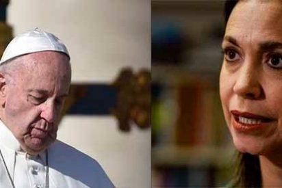 """María Corina Machado al Papa: """"Entre el crimen y la justicia no hay punto medio"""""""