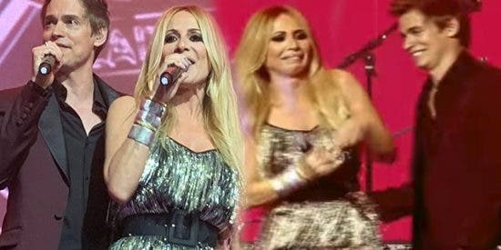 Marta Sánchez da las gracias a Cadena Dial durante un concierto en Cadena 100