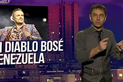 El chavista Monedero utiliza la ventana que le financia Roures para atacar a Miguel Bosé por su tajante postura en contra de Maduro