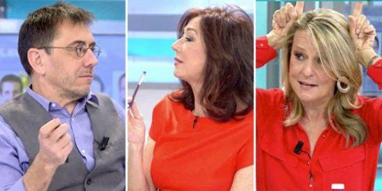 """Ana Rosa y San Sebastián hunden al manipulador Monedero: """"¡No nos tomes por imbéciles!"""""""