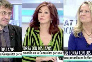 Monedero se las da de defensor de las mujeres pero Ana Rosa le mete un corte de impresión e Isabel San Sebastián lo remata