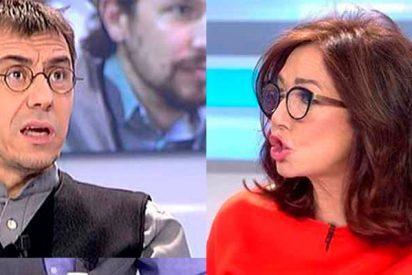 """Ana Rosa se cabrea con el idiota de Monedero por decir que es de derechas: """"¿Tú sabes a quién voto?"""""""