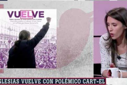 """Irene Montero solo puede tragar saliva cuando le preguntan si Pablo Iglesias tenía conocimiento del controvertido 'cart-él': """"¡Glups!"""""""