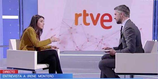 Irene Montero abronca a Franganillo por preguntarle por el casoplón de Galapagar: