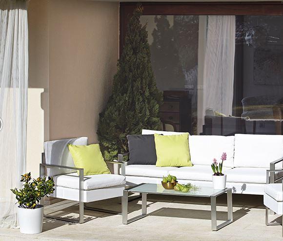 muebles de aluminio para jardín