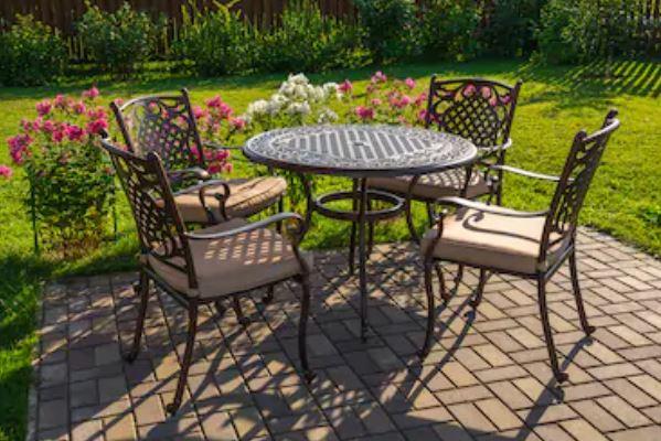muebles de jardín de hierro