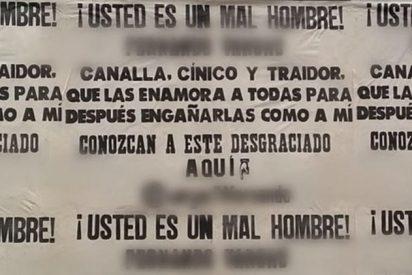 Dulce venganza: Una mujer pega carteles contra su pareja por ser infiel