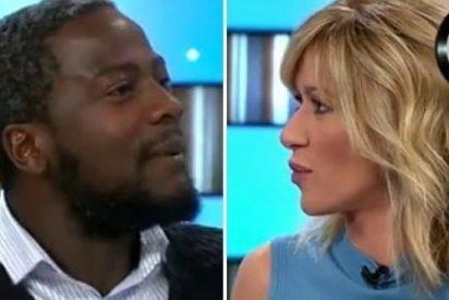El obsceno beso de Susanna Griso al 'negro de VOX' por lanzarle un capote tras la cornada