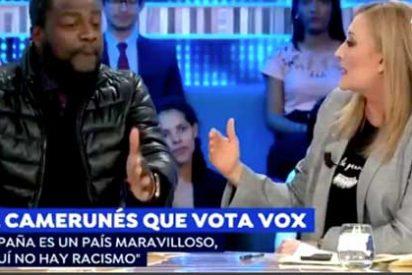 """Bertrand Ndongo, negro y de VOX, se pasa por la piedra a Elisa Beni: """"Usted siempre habla mal de España, si no le gusta este país, márchese"""""""