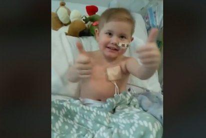 5.000 personas hacen cola para salvar la vida de este niño con cáncer