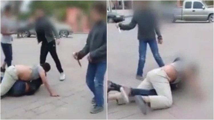 Vídeo: Niño intenta apuñalar a otro durante una riña callejera