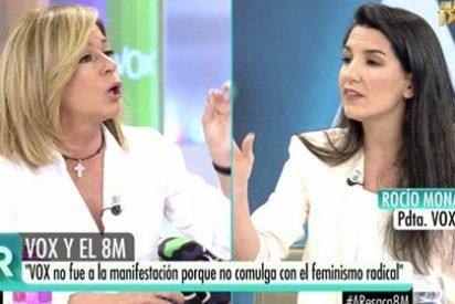 La peor Esther Palomera escupe todo su odio contra VOX insultando a Rocío Monasterio en Telecinco