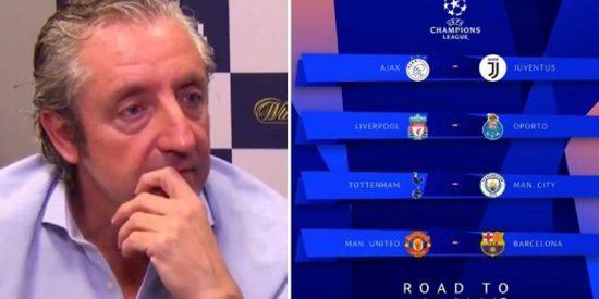 Pedrerol pronostica los dos equipos que llegarán a la final de la Champions