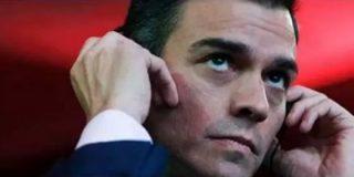 """El espontáneo que descabella a Sánchez durante su paseíllo riojano: """"¡España no se vende, eres de Falcon Crest!"""""""