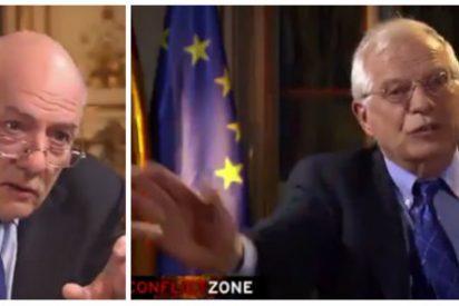 """Borrell se harta de las trolas de un periodista de una TV alemana sobre Cataluña: """"¡Pare, está usted mintiendo!"""""""
