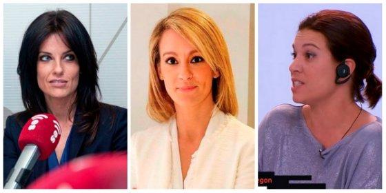 """María Jamardo y Cristina Seguí le pintan la cara a la pesetera Talegón por rajar contra Inda: """"Es la Lewinski de Puigdemont"""""""