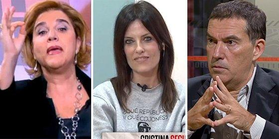 """Rahola se mete a defender a Talegón y se lleva otro espectacular golpe de Cristina Seguí: """"¡Y tú eres la Gallina Caponata de Puigdemont!"""""""