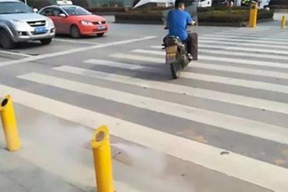 Así es el sistema chino con el que nadie cruzará con el semáforo en rojo