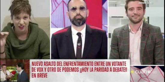 Hasta en el programa de Risto se llevan las manos a la cabeza con la burrada de Talegón: la 'indepe' asegura en directo que Toni Albà no llamó puta a Arrimadas