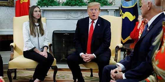 "Donald Trump recibió a la esposa de Juan Guaidó en la Casa Blanca: ""Rusia tiene que salir de Venezuela"""