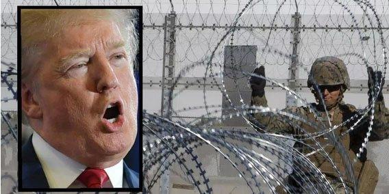 Donald Trump manda a poner alambre de púas en el muro con México, pero se lo roban en Tijuana