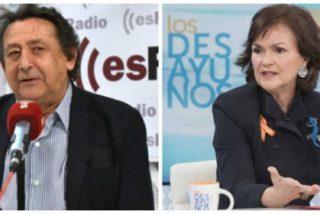 """El vaticinio de Alfonso Ussía sobre Carmen Calvo ante otro revés con la exhumación de Franco: """"Se le pueden tintar las bragas"""""""
