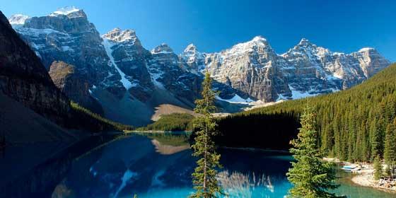 Qué ver en Canadá: Lago Moraine y el Valle de los Diez Picos