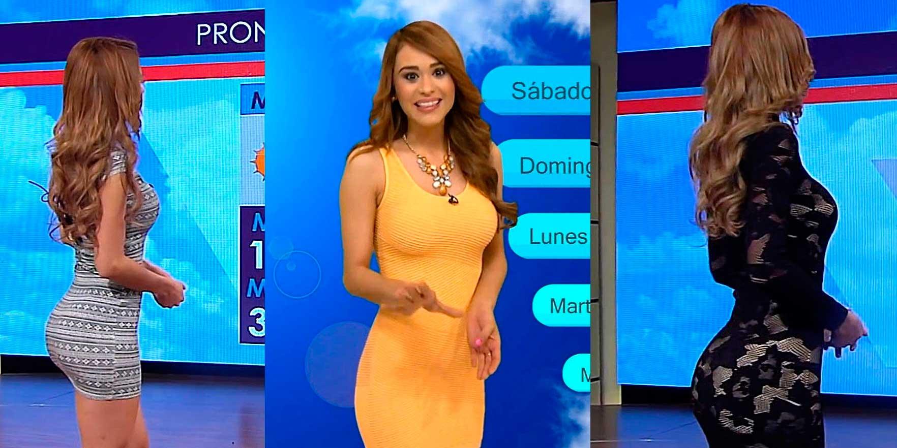 """Yanet García, """"La chica más sexy del clima"""" de colegiala, a lo """"Rebelde"""""""