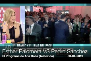 Esther Palomera echando pestes del lema del PSOE: sí, sí, la mismísima Palomera