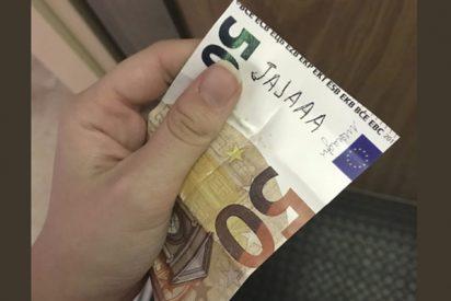Una twittera arrasa con este billete de 50 euros que se encontró