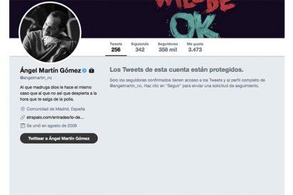 """Ángel Martín activa un filtro de acceso a su cuenta en Twitter: """"Estoy hasta el rabo de tanto ofendido"""""""