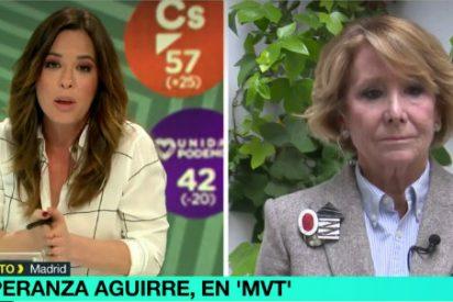 """Esperanza Aguirre carga contra Podemos: """"Pablo Iglesias va a hablar de economía cuando ha convertido el país más rico de América en el más pobre"""""""