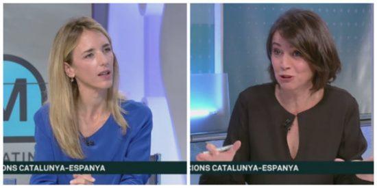 """Cayetana Álvarez de Toledo deja tiritando a la presentadora de TV3: """"Esto es una TV residual que ha participado en un golpe de Estado"""""""