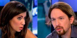 """El pique entre Ana Pastor y Pablo Iglesias en 'El Objetivo': """"Disculpe que interrumpa sus preguntas con mis respuestas"""""""