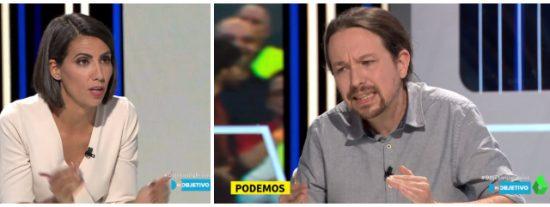 """Pablo Iglesias se hace la víctima ante una patética Ana Pastor: """"Disculpe por interrumpir con mis respuestas a sus preguntas"""""""